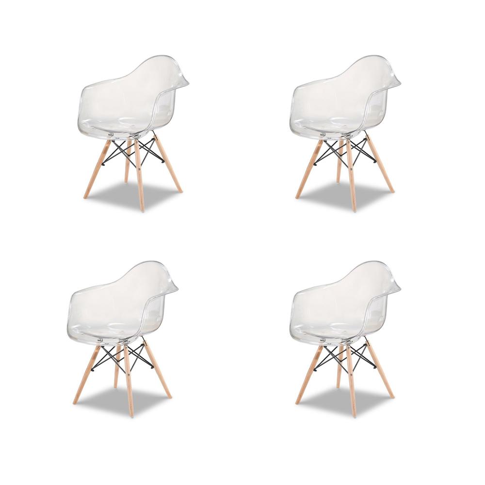 Купить Набор из четырех стульев с прозрачным сидением, inmyroom, Китай