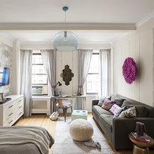 Фотография: Гостиная в стиле Скандинавский, Малогабаритная квартира, Квартира, Дизайн интерьера – фото на InMyRoom.ru