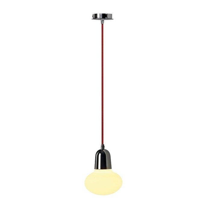 Светильник подвесной SLV Pirus хром/красный/стекло матовое
