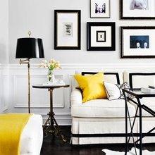 Фотография: Гостиная в стиле Кантри, Декор интерьера, Аксессуары, Декор, Белый, Черный, Желтый, Серый, Бирюзовый – фото на InMyRoom.ru