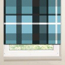 Рулонные шторы: Голубой плед