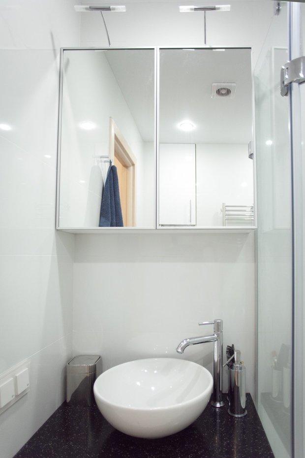 Фотография: Ванная в стиле Современный, Квартира, Дома и квартиры, Проект недели, Перепланировка – фото на InMyRoom.ru