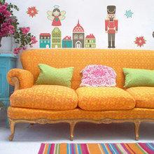 Фотография: Гостиная в стиле Кантри, Декор интерьера, DIY, Дом, Праздник – фото на InMyRoom.ru