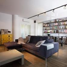 Фотография: Гостиная в стиле Современный, Лофт, Квартира, Дома и квартиры, Индустриальный, Польша – фото на InMyRoom.ru