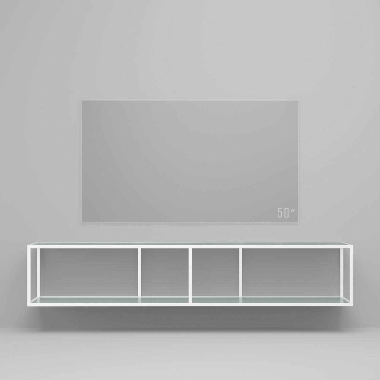 Тумба tv Stand Lite White матовое стекло