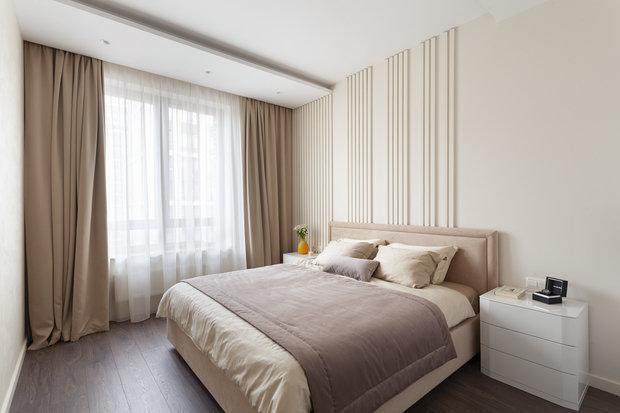 Фотография: Спальня в стиле Современный, Квартира, Проект недели, Москва, 2 комнаты, 60-90 метров, Мария Ничипоренко – фото на INMYROOM