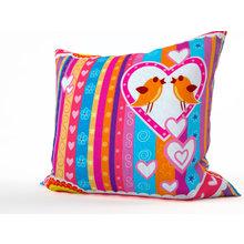 Декоративная подушка: Влюбленные птички