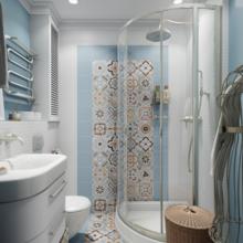 Фотография: Ванная в стиле Кантри, Современный, Эклектика, Квартира, Проект недели – фото на InMyRoom.ru