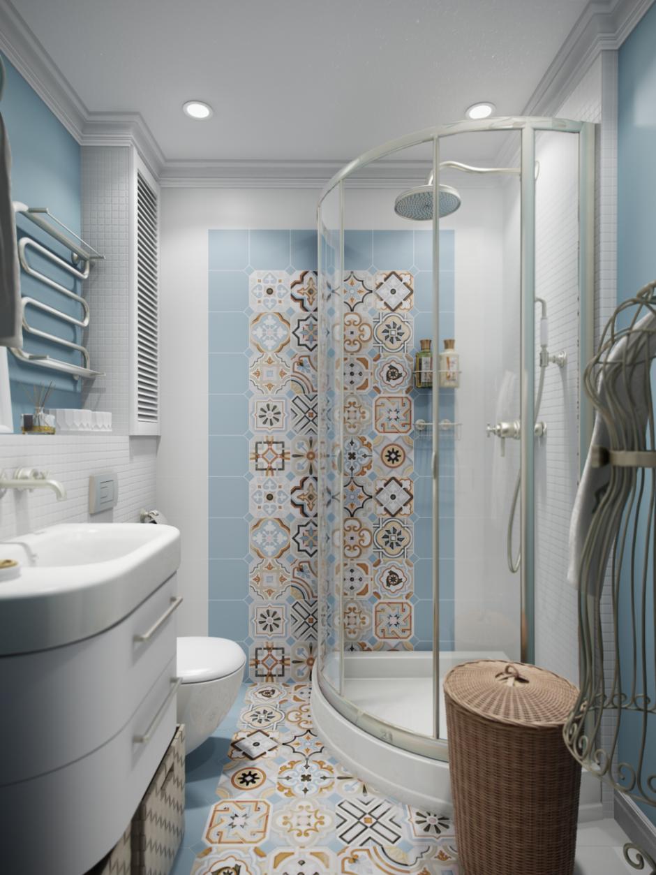 Фотография: Ванная в стиле Прованс и Кантри, Современный, Эклектика, Квартира, Проект недели – фото на InMyRoom.ru