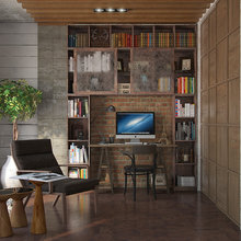 Фотография: Офис в стиле Лофт, Декор интерьера, Квартира, Foscarini, Restoration Hardware, Дома и квартиры, IKEA, Проект недели – фото на InMyRoom.ru