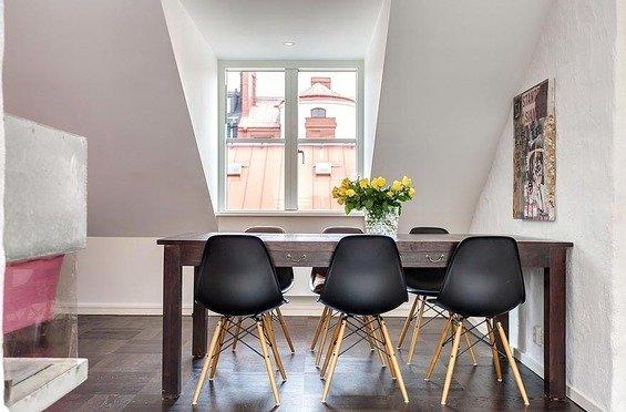 Фотография: Кухня и столовая в стиле Минимализм, Декор интерьера, Квартира, Дома и квартиры, Пентхаус, Стокгольм, Мансарда – фото на InMyRoom.ru