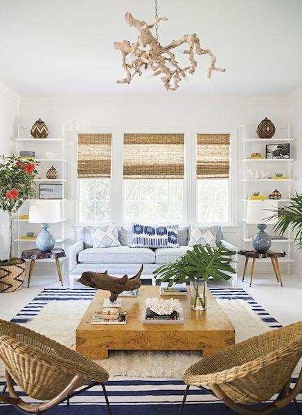 Фотография: Гостиная в стиле Прованс и Кантри, Восточный, Декор интерьера, Декор дома, Плетеная мебель – фото на InMyRoom.ru