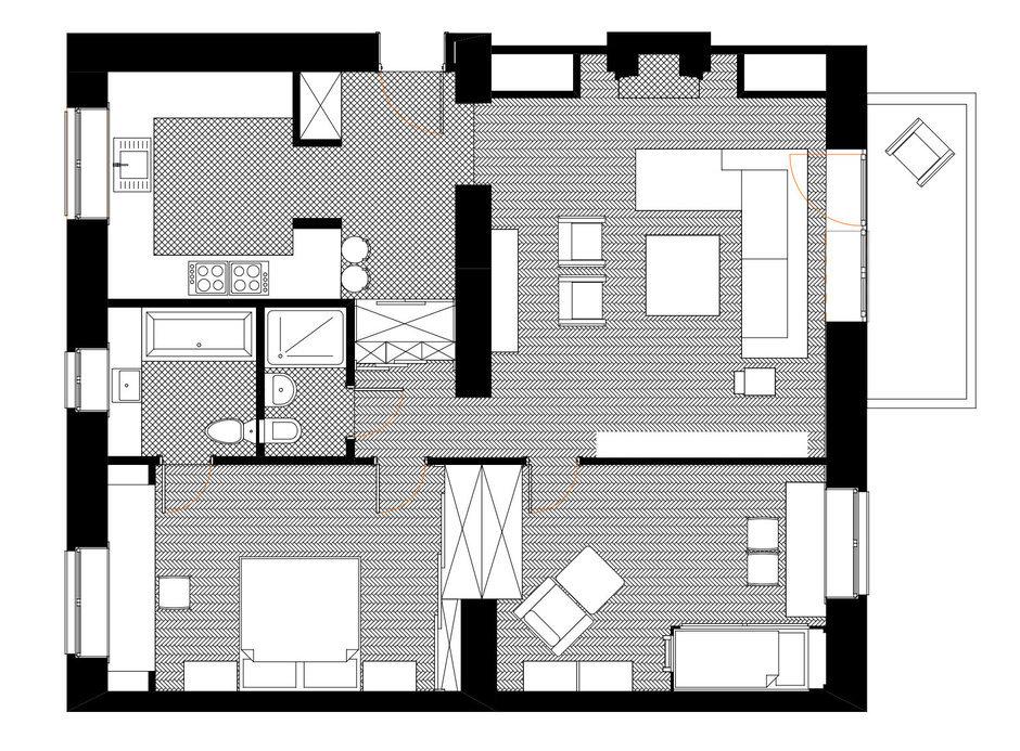 Фотография: Планировки в стиле , Современный, Квартира, Дома и квартиры, Проект недели – фото на InMyRoom.ru