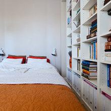 Фотография: Спальня в стиле Скандинавский, Современный, Малогабаритная квартира, Квартира, Цвет в интерьере, Дома и квартиры, Переделка – фото на InMyRoom.ru
