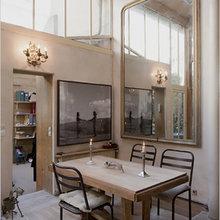 Фотография: Кухня и столовая в стиле Кантри, Дом, Дома и квартиры, Лестница – фото на InMyRoom.ru