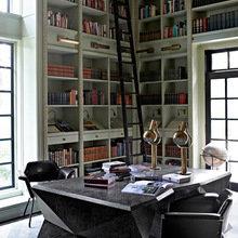 Фотография:  в стиле Современный, Эклектика, Системы хранения, Библиотека, Домашняя библиотека – фото на InMyRoom.ru