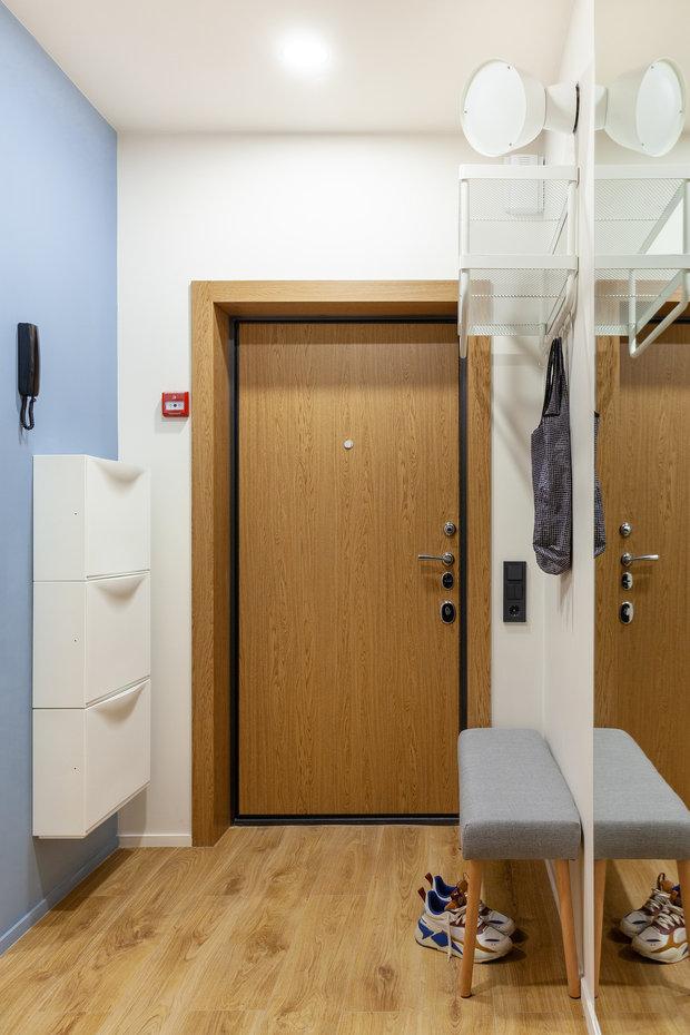 Фотография: Прихожая в стиле Современный, Квартира, Проект недели, Москва, 2 комнаты, 40-60 метров, КубКвадрат – фото на INMYROOM
