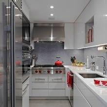 Фотография: Кухня и столовая в стиле Современный, Хай-тек, Декор интерьера, Малогабаритная квартира, Квартира, Планировки, Декор – фото на InMyRoom.ru