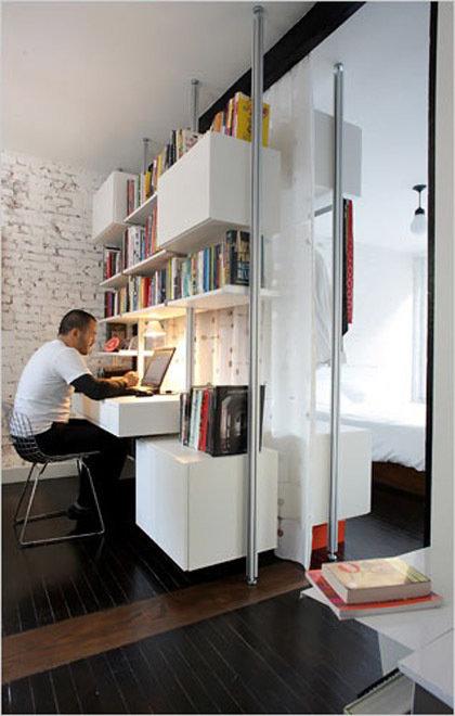 Фотография: Офис в стиле Лофт, Современный, Декор интерьера, Дом, Декор дома, Системы хранения, Шторы – фото на InMyRoom.ru