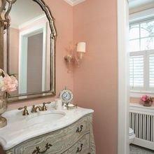 Фотография: Ванная в стиле Кантри, Декор интерьера, Декор, Розовый – фото на InMyRoom.ru