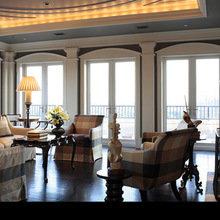 Фотография: Гостиная в стиле Классический, Квартира, Дом, Цвет в интерьере, Дома и квартиры, Камин, Синий – фото на InMyRoom.ru