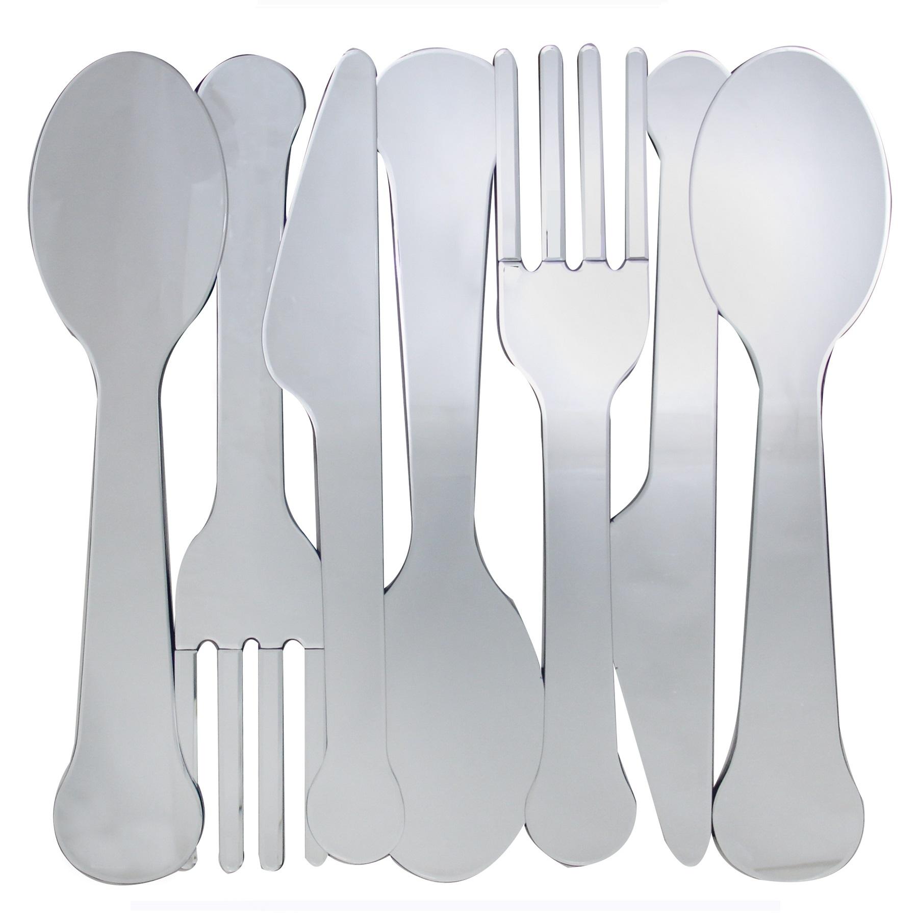 Купить со скидкой Декоративная зеркальная панель столовые приборы Tableware
