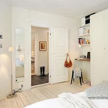 Фотография: Спальня в стиле Скандинавский, DIY, Малогабаритная квартира, Квартира, Дома и квартиры – фото на InMyRoom.ru