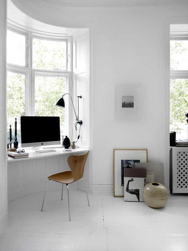Фотография: Кабинет в стиле Скандинавский, Квартира – фото на INMYROOM