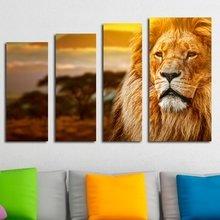 Модный полиптих для стен: Король зверей