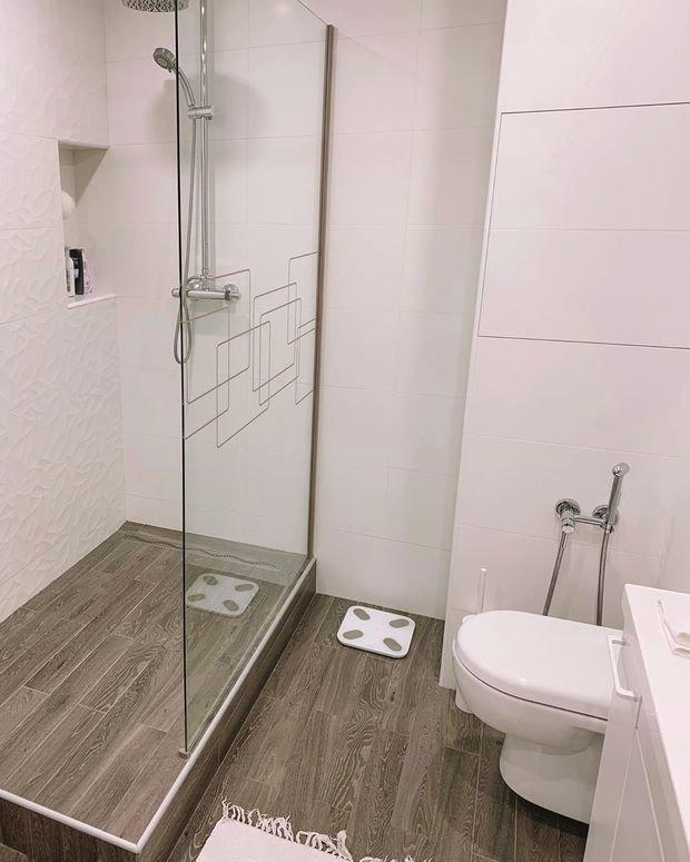 Фотография: Ванная в стиле Современный, Квартира, Проект недели, Панельный дом, 1 комната, 40-60 метров, Сбербанк, Некрасовка – фото на INMYROOM