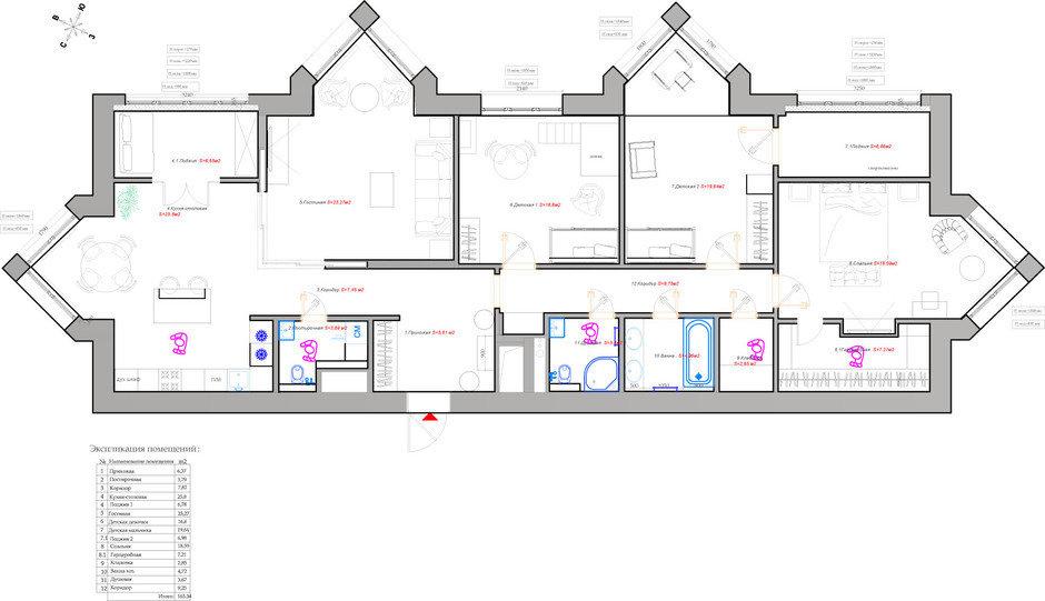 Фотография: Планировки в стиле , Квартира, Проект недели, Москва, Монолитный дом, 4 и больше, Более 90 метров, Анна Максимова, ЖК «Шатер» – фото на InMyRoom.ru