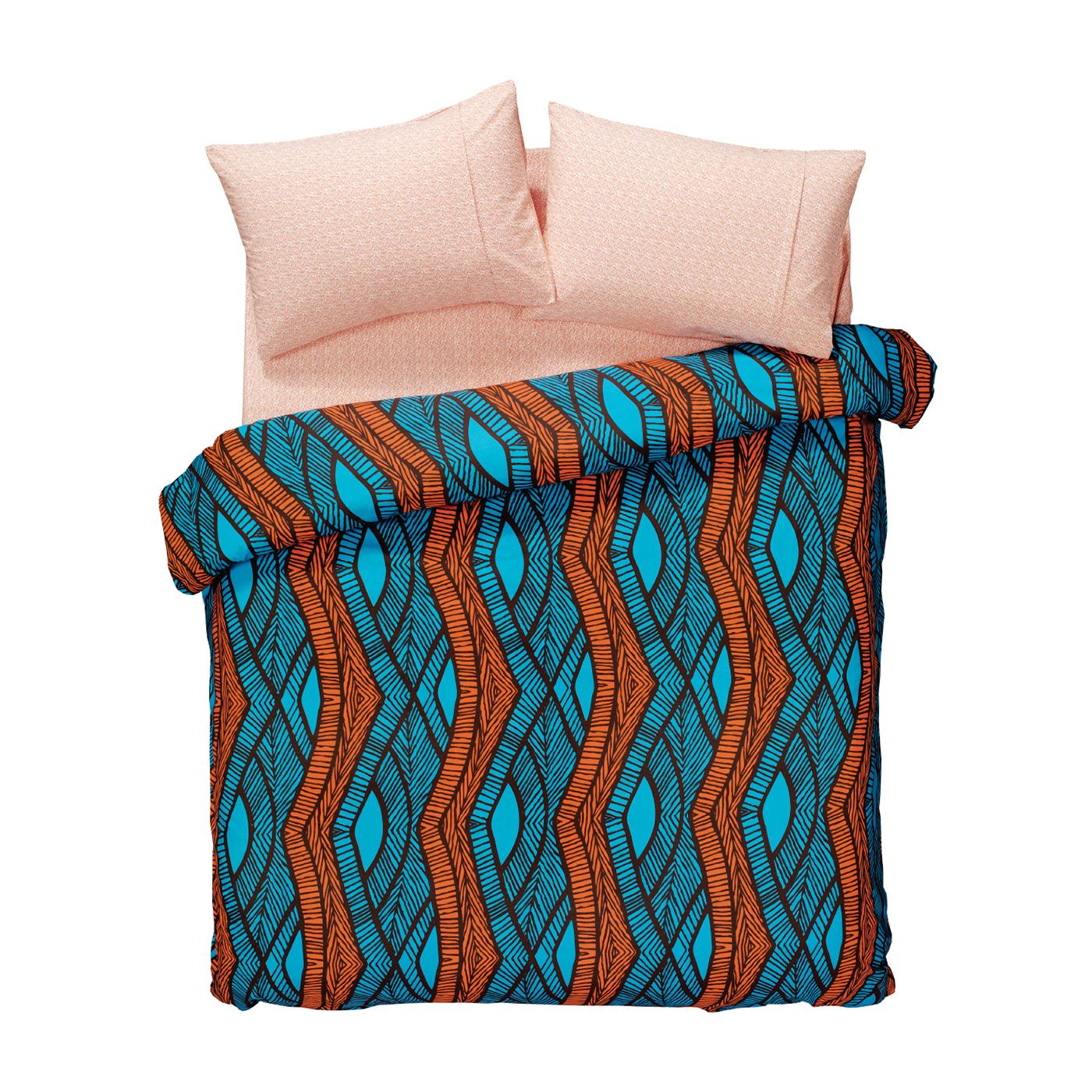 Купить Комплект постельного белья Ethnic Orange Euro, inmyroom, Турция