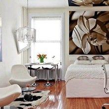 Фотография: Спальня в стиле Скандинавский, Современный, Малогабаритная квартира, Квартира, Дома и квартиры – фото на InMyRoom.ru