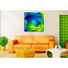Дизайнерская картина на холсте: Цветные капли