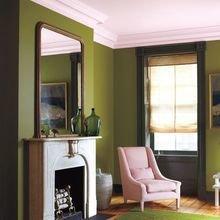 Фотография: Гостиная в стиле Кантри, Декор интерьера, Дизайн интерьера, Цвет в интерьере, Белый, Синий, Серый – фото на InMyRoom.ru