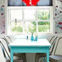 Фотография: Кухня и столовая в стиле Кантри, Дом, Цвет в интерьере, Дома и квартиры, Бирюзовый – фото на InMyRoom.ru