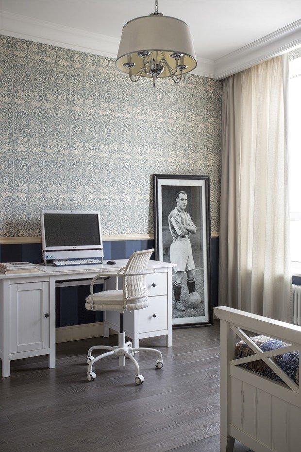 Фотография: Кабинет в стиле Прованс и Кантри, Эклектика, Квартира, Проект недели, Москва, Олеся Шляхтина, 2 комнаты, 3 комнаты, 60-90 метров – фото на INMYROOM