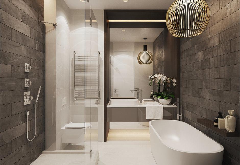 Фотография: Ванная в стиле Кантри, Эклектика, Квартира, Минимализм, Проект недели – фото на InMyRoom.ru