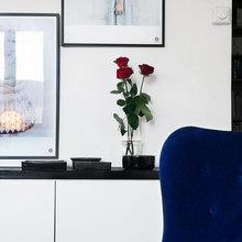 Фотография: Гостиная в стиле Современный, Малогабаритная квартира, Квартира, Дома и квартиры, Гардероб, Принт, Библиотека, Окна – фото на InMyRoom.ru