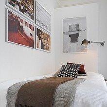 Фотография: Спальня в стиле Современный, Малогабаритная квартира, Квартира, Мебель и свет, Дома и квартиры, Стокгольм – фото на InMyRoom.ru