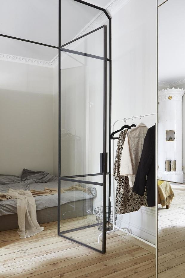 Фотография: Спальня в стиле Эклектика, Скандинавский, Декор интерьера, Малогабаритная квартира, Квартира, Студия, Швеция, Стокгольм – фото на InMyRoom.ru