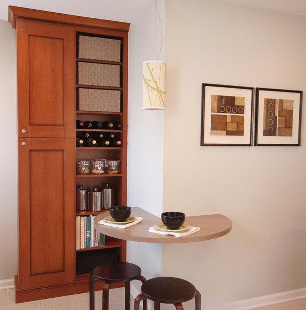 Фотография: Мебель и свет в стиле Современный, Кухня и столовая, Интерьер комнат, Обеденная зона – фото на InMyRoom.ru