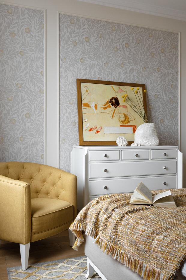 Фотография: Спальня в стиле Классический, Современный, Квартира, Проект недели, Санкт-Петербург, Виктория Малышева, 2 комнаты, 40-60 метров – фото на INMYROOM