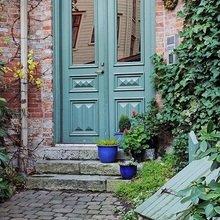 Фотография: Терраса в стиле Кантри, Квартира, Цвет в интерьере, Дома и квартиры, Белый, Камин – фото на InMyRoom.ru
