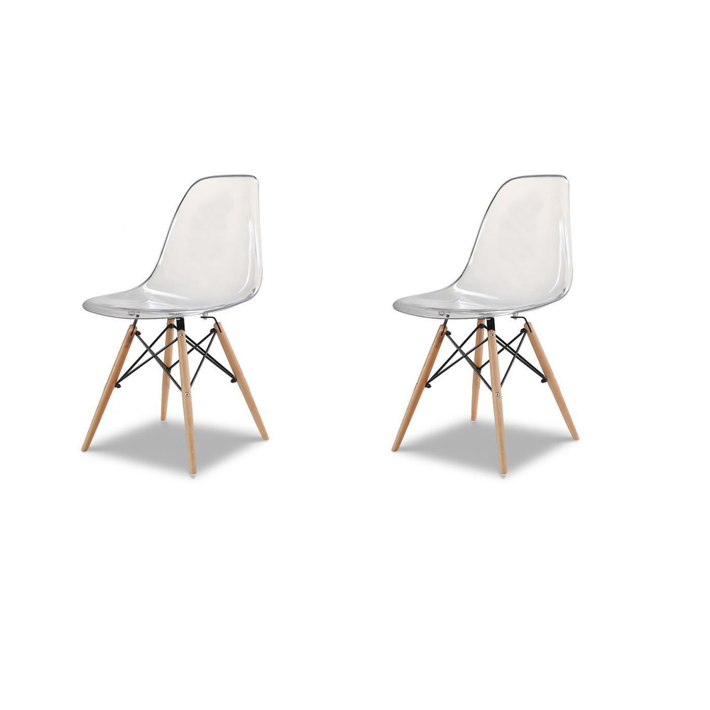 Купить Набор из двух стульев c прозрачным сидением, inmyroom, Китай