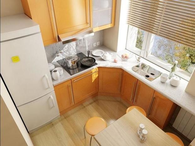 Фотография: Кухня и столовая в стиле Современный, Интерьер комнат, kuhnya-8-kv-metrov – фото на InMyRoom.ru