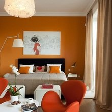 Фотография: Спальня в стиле Современный, Квартира, Дома и квартиры, Большие окна – фото на InMyRoom.ru