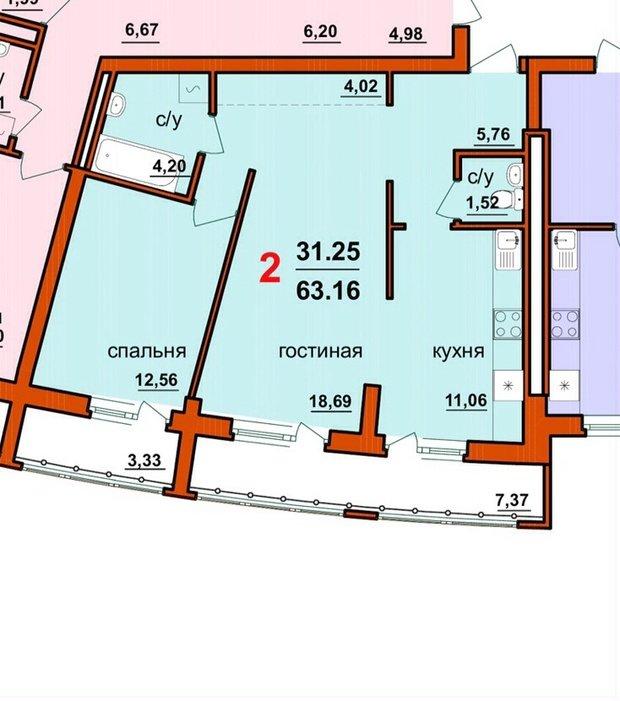 Помогите с разграничением пространства в квартире-студии