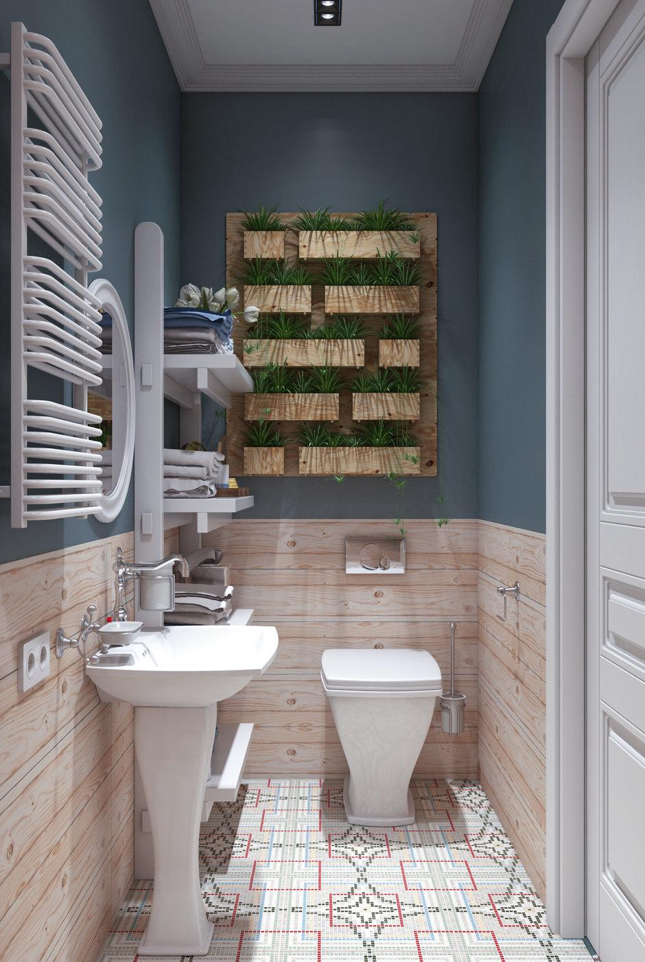 Фотография: Ванная в стиле Скандинавский, Малогабаритная квартира, Квартира, Проект недели, Марина Саркисян, Хельсинки, 2 комнаты, до 40 метров – фото на InMyRoom.ru