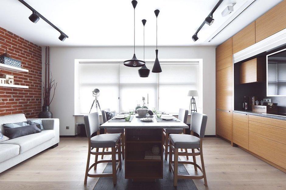 Фотография: Кухня и столовая в стиле Лофт, Современный, Малогабаритная квартира, Квартира, Дома и квартиры, Проект недели – фото на InMyRoom.ru